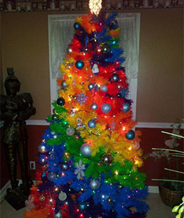 Rockin Rainbow Christmas Tree Treetopia UK