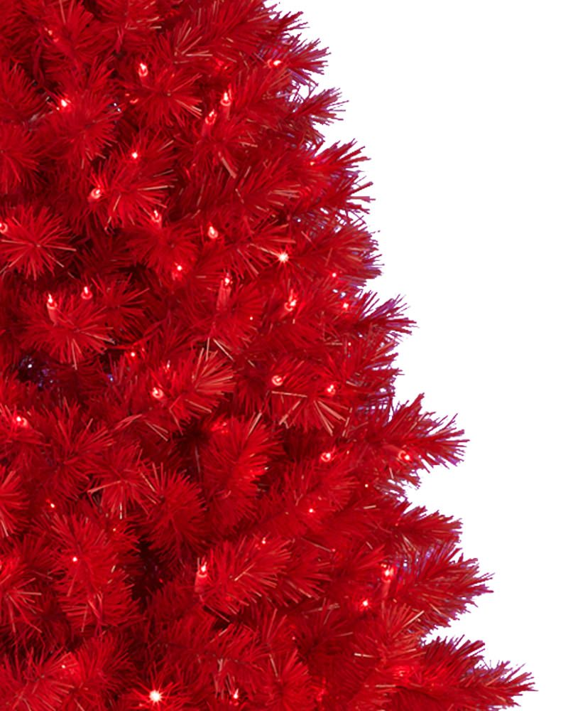 Lipstick red christmas tree treetopia uk Red white christmas tree