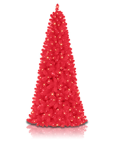 Hot Pink Narrow Christmas Tree