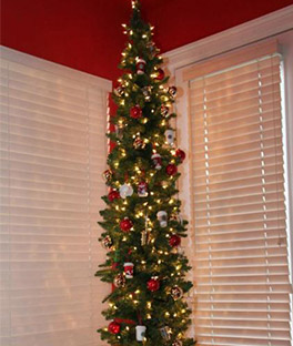 spotlight - Skinny Christmas Tree Decorating Ideas