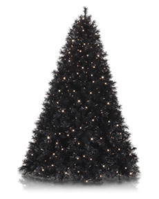 Tuxedo Black Christmas Tree <span>|7'|Full 52"