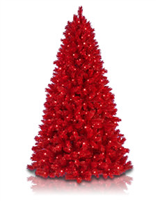 Lipstick Red Christmas Tree <span>|7'|Full 46"