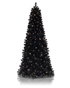 Bearskin Black Narrow Christmas Tree