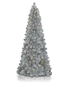 Sixpence Silver Narrow Christmas Tree