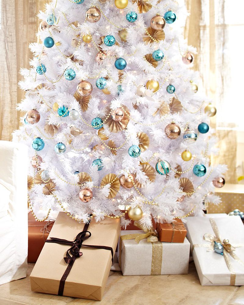 white christmas trees - How To Decorate A White Tree For Christmas